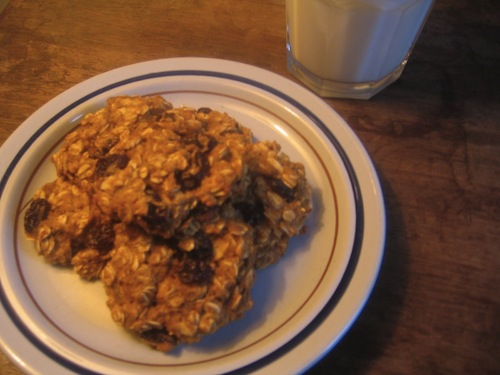 oatmeal raisin applesauce cookies 2 Oatmeal Raisin Applesauce Cookies