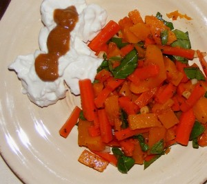 10 carrot butternut 300x266 Butternut Squash and Carrots with Delicious Basil & WHB