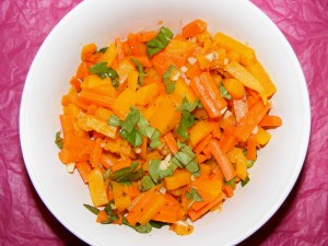 5 carrot butternut 300x225 Butternut Squash and Carrots with Delicious Basil & WHB