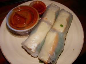 5 veggie spring rolls 300x225 More eats for 9/20/2008 and a new site!