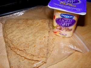 3 snack wrap yogurt 2 Blogging Friends!