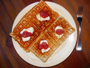 3 waffles 2 Really lazy Saturday...