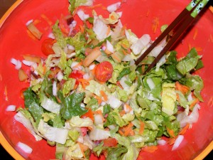 4 dinner salad 300x225 05 October 2008   Afternoon/Evening
