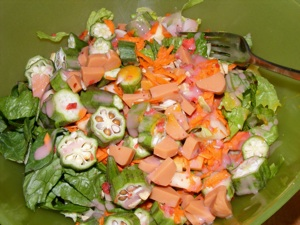 4 salad 2 Really lazy Saturday...
