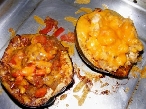 7 stuffed squash 300x225 Polenta Stuffed Mexican Acorn Squash   Blogger Secret Ingredient