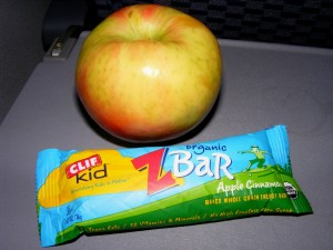1 apple zbar 300x225 Im home!  And a salad challenge update.