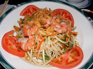 2 papaya salad shrimp 300x225 Last day with dad