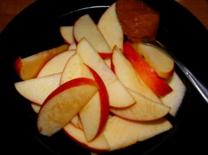 3 apple ab 300x224 Lazing around... and the Blogger Secret Ingredient! (Pumpkin)