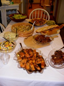 5 dinner spread 225x300 Family, Friends, Fun, & Fantastic Food = the perfect Saturday