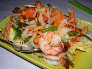 5 prawn papaya salad copy 300x225 The 12 mile Friday