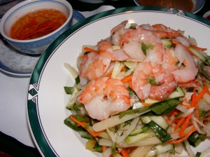 6 lotus shrimp pork salad 300x224 Vietnamese for dinner... again :)