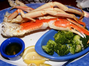6 red lobster crab broccoli 300x225 Drive along the coast