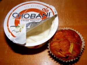 8 chobani muffin 300x225 Last night of the weekend... so sad.