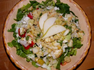 8 dinner salad 300x225 Pear & Crab Salad   Blogger Secret Ingredient