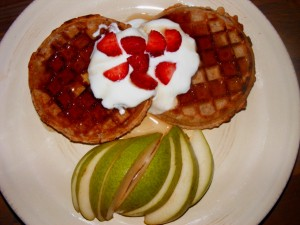 16 waffles pear 300x225 Dave Farmar kicks my butt