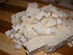 18 chopped tofu 300x225 Mabu Tofu (Chinese dish)