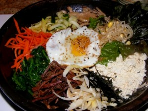 5 vegetarian bibimbap 300x224 Annoucement... and dinner!
