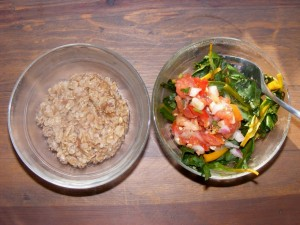 38 macrobiotic lunch 300x225 Golden Beets & Wheat Berries (Weekend Herb Blogging, Macrobiotic)