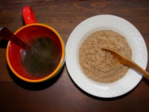 5 oat bran miso soup 300x225 Yoga detox, oat bran, and macrobiotics