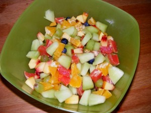 11 fruit salad 300x225 Handstands, Fruit Salads & Dinner Parties