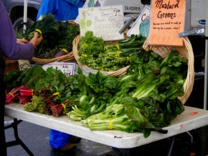 3 farmers market greens 300x225 Menu Plan Monday (vegetarian/vegan/macrobiotic)