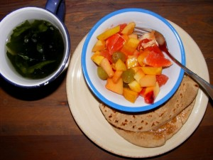 3 pita fruit miso breakfast 300x225 Repeat dinner, new breakfast