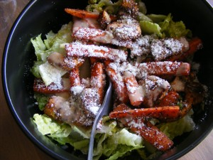 12 wednesday salad 300x225 Salad, yoga, & shopping