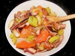 13-squid-leeks-tomatoes