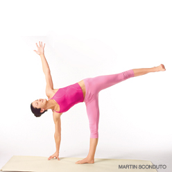 half moon pose1 Chillax exercise & a fun flow