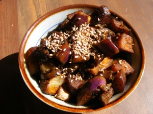 17 eggplant sesame 300x225 Sesamed Spiced Eggplant