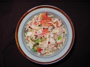 10 seafood salad 300x225 Sealeg Salad (imitation crab meat)