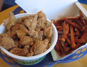 12 quickly fries chicken