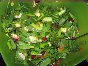 12 raw salad mixed