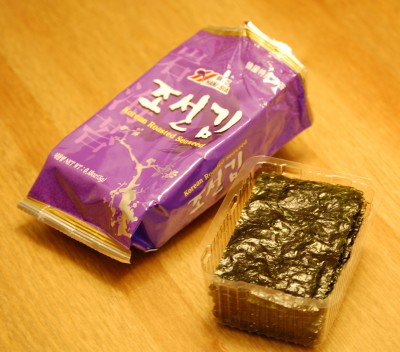 01 korean roasted seaweed 400x352 Dragon fruit! Roasted Seaweed! Friends!