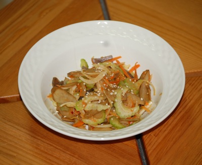 09 burdock salad Recipe: Spicy Burdock Root Salad