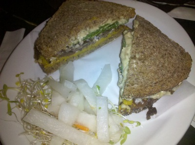 08 kabocha sandwich Blogger Love and Review: Peace Food Cafe (New York City)