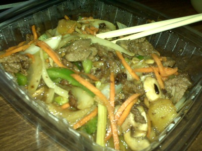 beef stir fry Vegetarians Beware. Yummy Thai Food.