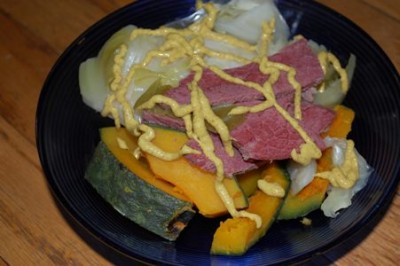 corned beef kabocha cabbage mustard 400x266 How to Stop Worrying and Learn to Love the Ice Cream