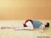 supine twist yoga pose Easing a Grumpy Tummy... Who Knew It Could Be So Easy?
