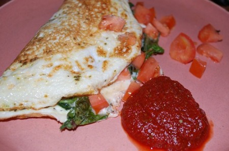 01 tomato green omelette ketchup 450x2981 Homemade Ketchup Fun & Natures Pride Bread