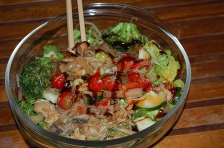 11 hot cold asian salad 450x298 Recipe: Hot Cold Asian Salad