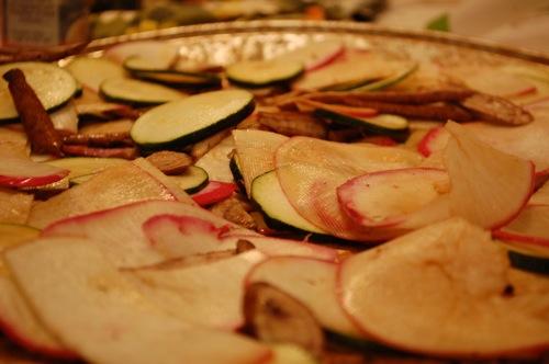 03 turnips zucchini burdock Recipe: (Organic) Roasted Veggie Bi Bim Bap