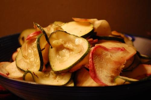04 turnips zucchini Recipe: (Organic) Roasted Veggie Bi Bim Bap