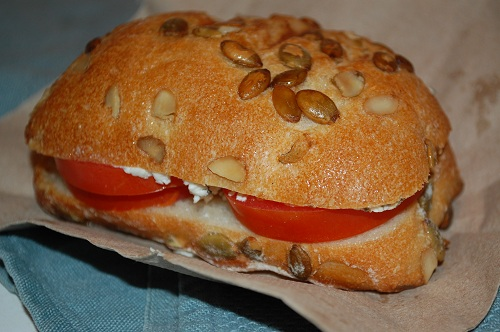 13 pumpkin seed ciabatta goat cheese sandwich 3 Tips for Eating Mindfully + Ciabatta Meals