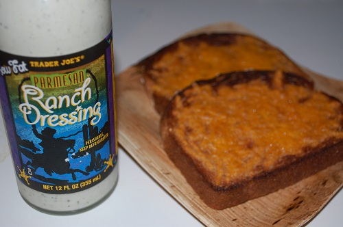 16 grilled cheesy bread toast ranch dressing trader joes Quick Healthy Snacking   Snack (Singular), that is!