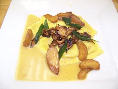 butternut squash raviolis Marina: Vegan Wedding Fare
