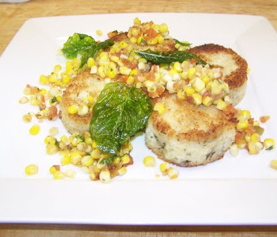 fried risotto cakes Marina: Vegan Wedding Fare
