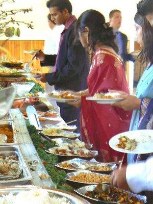 indian veggie buffet queens farm Marina: Vegan Wedding Fare