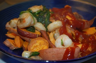 05 dinner sweet potato shrimp spinach 400x265 Fun Food Friday