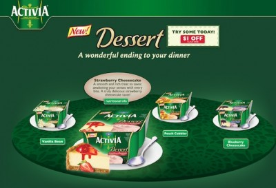 activia coupon 400x273 Reviews, Activia Desserts, & Eating To Feel Good